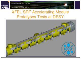 XFEL SRF Accelerating Module Prototypes Tests at DESY
