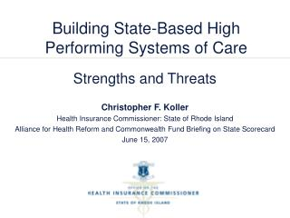 Building State-Based High Performing Systems of Care