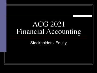 ACG 2021 Financial Accounting