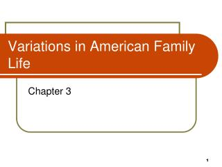 Variations in American Family Life