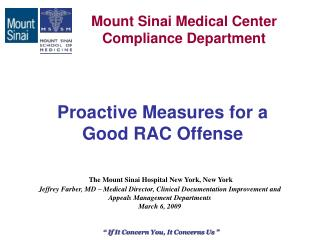 Proactive Measures for a  Good RAC Offense