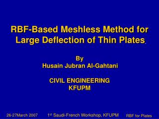 RBF-Based Meshless Method for  Large Deflection of Thin Plates By