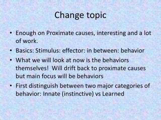 Change topic