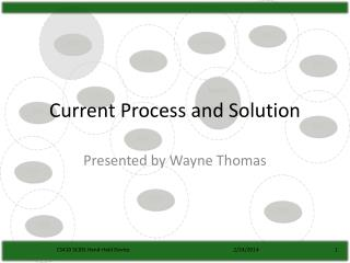 Current Process and Solution