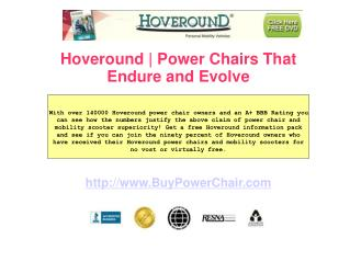 Hoveround Power Chair s - Highly Acclaimed for Good Reason