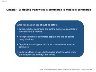 Chapter 12: Moving from wired e-commerce to mobile e-commerce