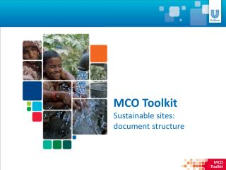 MCO Toolkit Sustainable sites: document structure