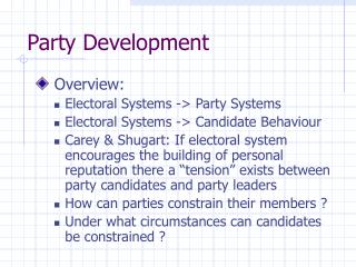 Party Development