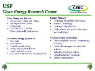 USF  Clean Energy Research Center