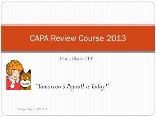 CAPA Review  Course 2013