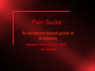 Pain Sucks: