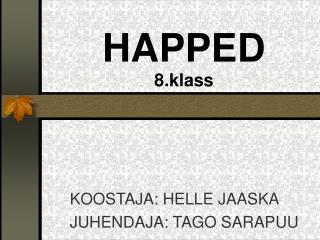 HAPPED 8.klass