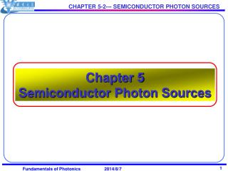 Chapter 5  Semiconductor Photon Sources