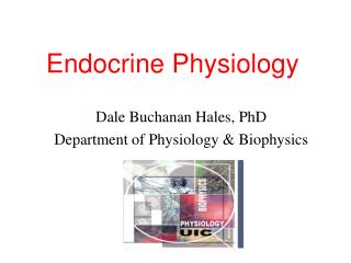 Endocrine Physiology