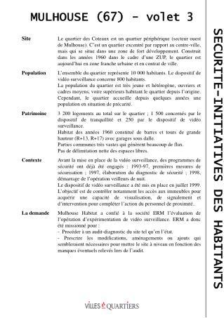 MULHOUSE (67) - volet 3
