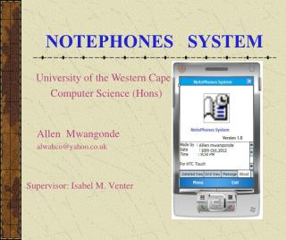 NOTEPHONES   SYSTEM