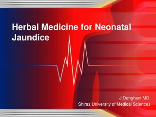 Herbal Medicine for Neonatal Jaundice