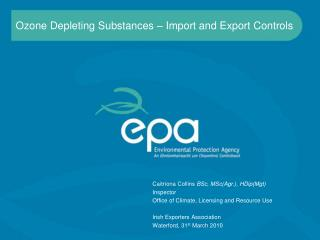 Ozone Depleting Substances – Import and Export Controls