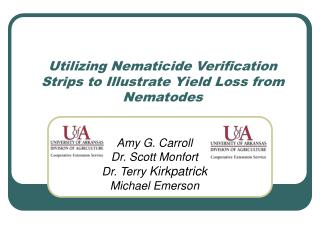 Utilizing Nematicide Verification Strips to Illustrate Yield Loss from Nematodes