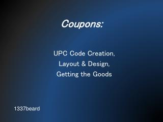 Coupons: