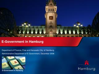Department of Finance,  Free and Hanseatic City of Hamburg, Administrative Department of E-Government, December 2006
