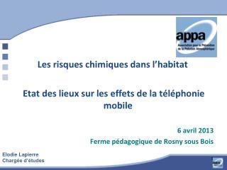 Les risques chimiques dans l'habitat Etat des lieux sur les effets de la téléphonie mobile