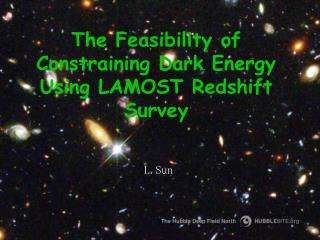 The Feasibility of Constraining Dark Energy Using LAMOST Redshift Survey