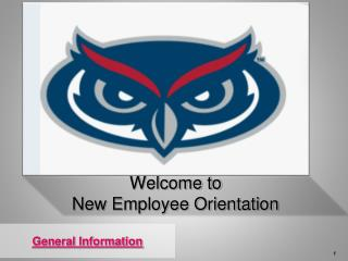 Welcome to  New Employee Orientation