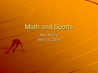 Math and Sports