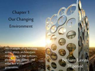 Chapter 1 Our Changing Environment