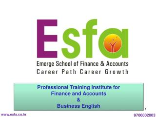 Professional Training Institute for  Finance and Accounts  & Business English