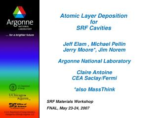 Atomic Layer Deposition  for  SRF Cavities