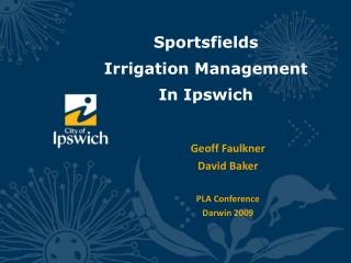 Sportsfields  Irrigation Management In Ipswich