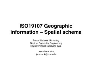 ISO19107 Geographic information – Spatial schema