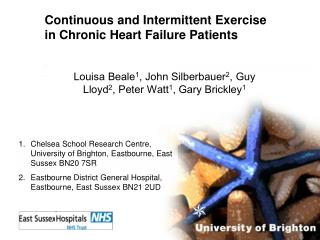 Continuous and Intermittent Exercise in Chronic Heart Failure Patients