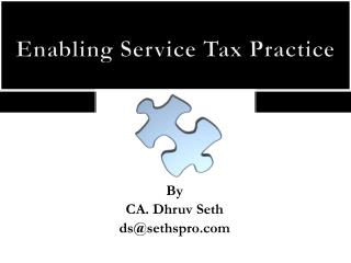 Enabling Service Tax Practice