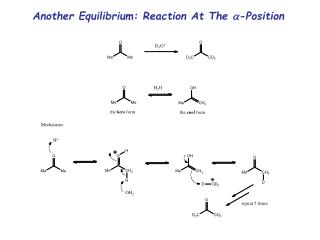 Another Equilibrium: Reaction At The  a -Position