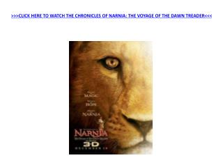 Watch The Chronicles Of Narnia Voyage Of The Dawn Treader
