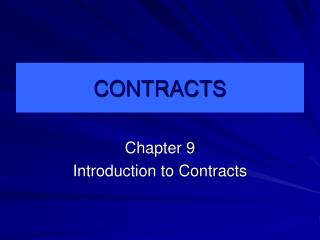 CONTRACTS