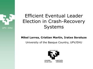 Efficient Eventual Leader Election in Crash-Recovery Systems
