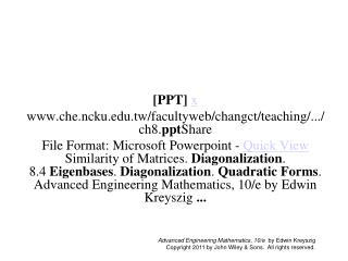 [PPT] x che.ncku.tw/facultyweb/changct/teaching/.../ch8. ppt Share