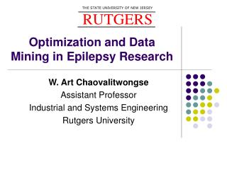 Optimization and Data Mining in Epilepsy Research