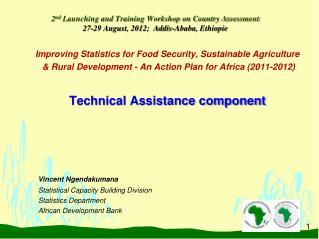 Improving Statistics for Food Security, Sustainable Agriculture