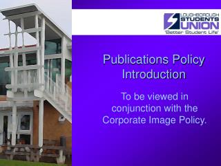 Publications Policy Introduction