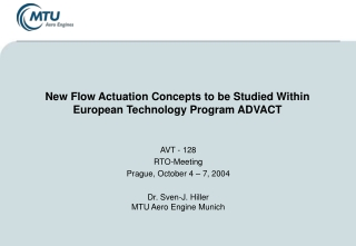 New Flow Actuation Concepts to be Studied Within European Technology Program ADVACT