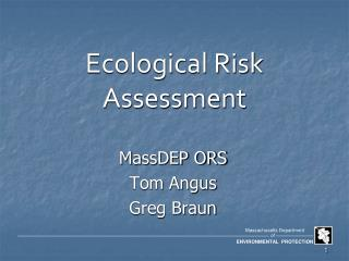 Ecological Risk Assessment