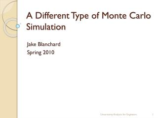A Different Type of Monte Carlo Simulation