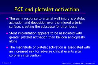 PCI and platelet activation