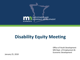 Disability Equity Meeting