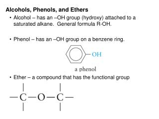 Alcohols, Phenols, and Ethers
